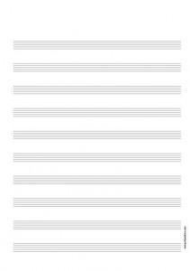 Papier Musique 10 portées avec titre