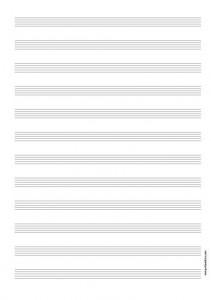 Papier Musique 12 portées