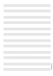 Papier Musique 12 portées pour duos
