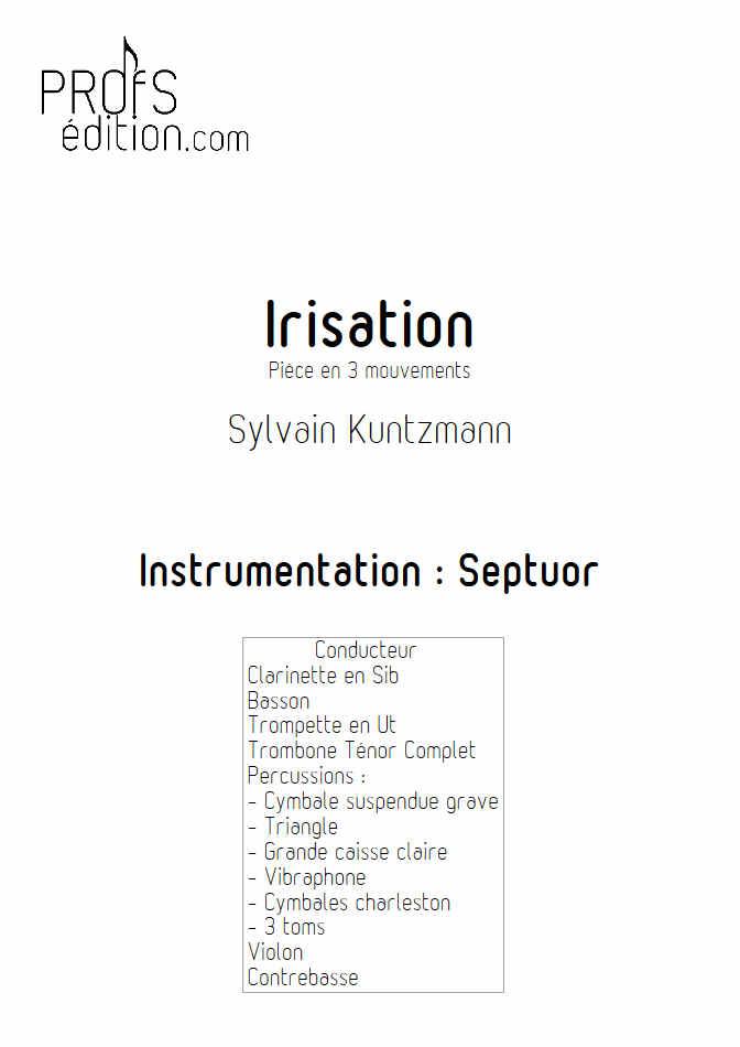 Irisation (3 Mvt) - Septuor - KUNTZMANN S. - page de garde