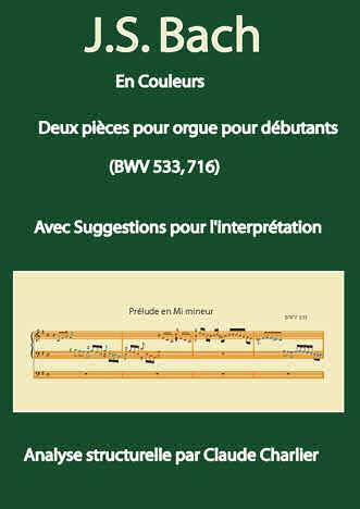 Bach en Couleurs (Deux pièces orgue) - Analyse Musicale - CHARLIER C. - page de garde