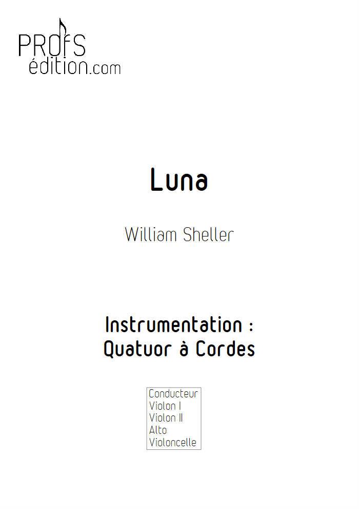 Luna - Quatuor à Cordes - SHELLER W. - page de garde