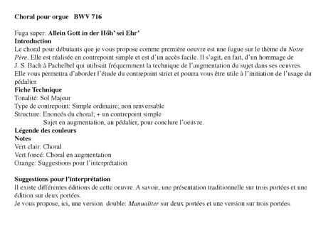 Bach en Couleurs (Deux pièces orgue) - Analyse Musicale - CHARLIER C. - app.scorescoreTitle