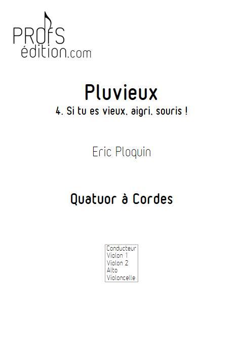 Pluvieux - Quatuor à Cordes - PLOQUIN E. - page de garde