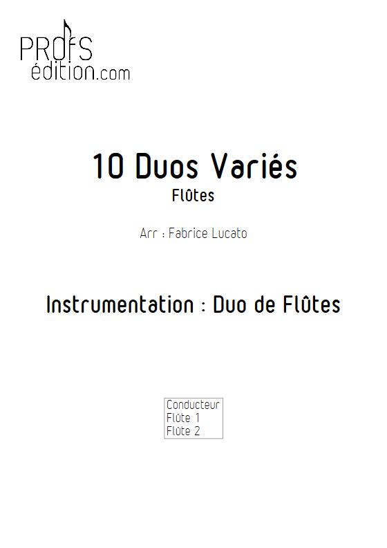 10 Duos Variés - Duo de Flûtes - DIVERS - page de garde
