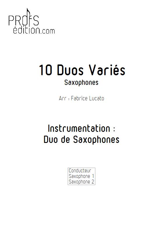 10 Duos Variés - Duo de Saxophones - DIVERS - page de garde