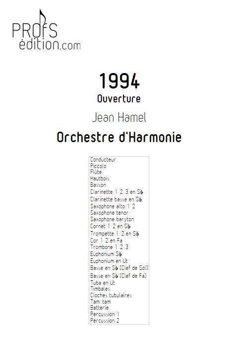 1994 - Orchestre d'Harmonie - HAMEL J. - page de garde