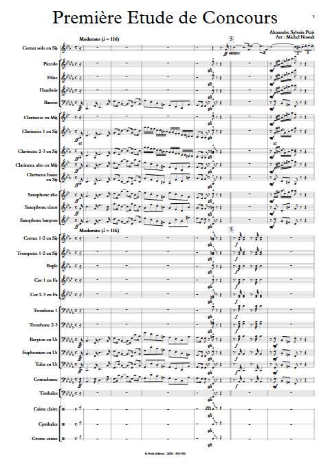 1ere étude de concours - Cornet et Orchestre d'Harmonie - PETIT A. S. - app.scorescoreTitle