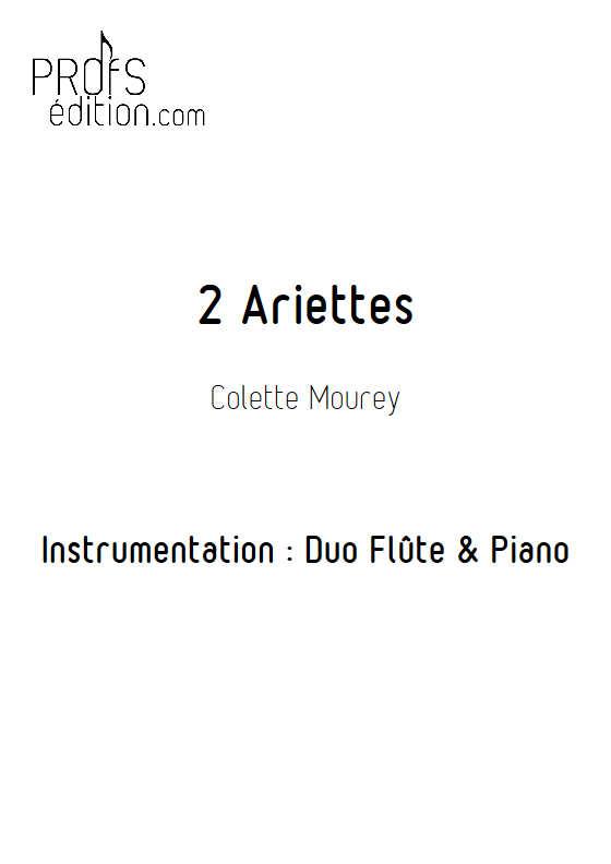 2 Ariettes - Duo Flûte & Piano - MOUREY C. - page de garde