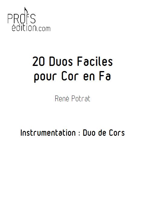 20 duos pour cors - POTRAT R. - page de garde