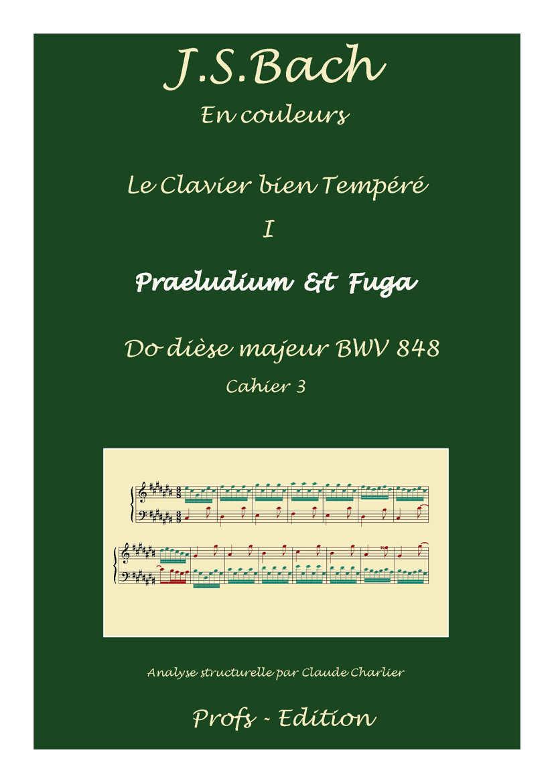 Clavier Bien Tempéré 1 BWV 848 - Analyse - CHARLIER C. - page de garde