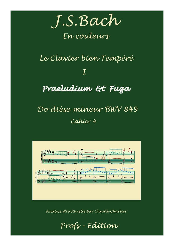 Clavier Bien Tempéré 1 BWV 849 - Analyse - CHARLIER C. - page de garde