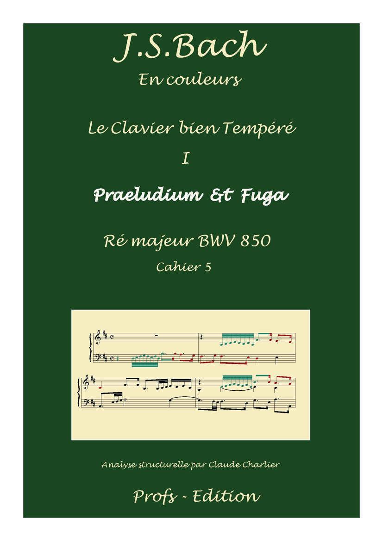 Clavier Bien Tempéré 1 BWV 850 - Analyse - CHARLIER C. - page de garde