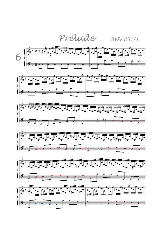 Clavier Bien Tempéré 1 BWV 851 - Analyse - CHARLIER C. - app.scorescoreTitle