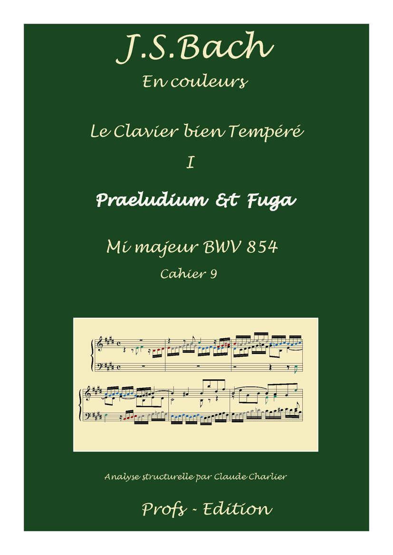 Clavier Bien Tempéré 1 BWV 854 - Analyse - CHARLIER C. - page de garde