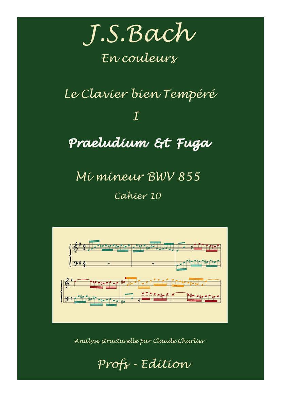 Clavier Bien Tempéré 1 BWV 855 - Analyse - CHARLIER C. - page de garde