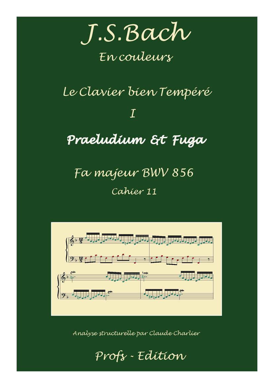 Clavier Bien Tempéré 1 BWV 856 - Analyse - CHARLIER C. - page de garde