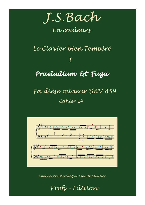Clavier Bien Tempéré 1 BWV 859 - Analyse - CHARLIER C. - page de garde