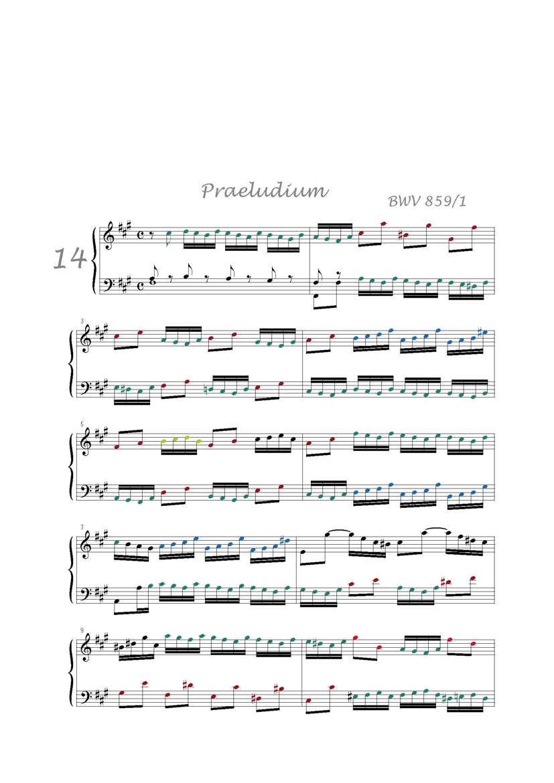 Clavier Bien Tempéré 1 BWV 859 - Analyse - CHARLIER C. - Partition