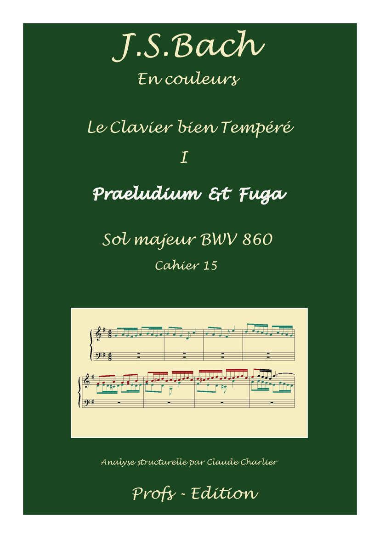 Clavier Bien Tempéré 1 BWV 860 - Analyse - CHARLIER C. - page de garde