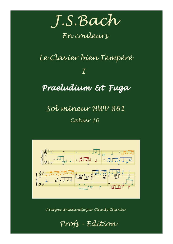 Clavier Bien Tempéré 1 BWV 861 - Analyse - CHARLIER C. - page de garde