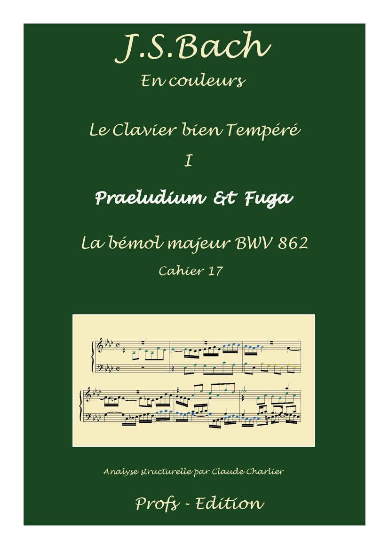 Clavier Bien Tempéré 1 BWV 862 - Analyse - CHARLIER C. - page de garde