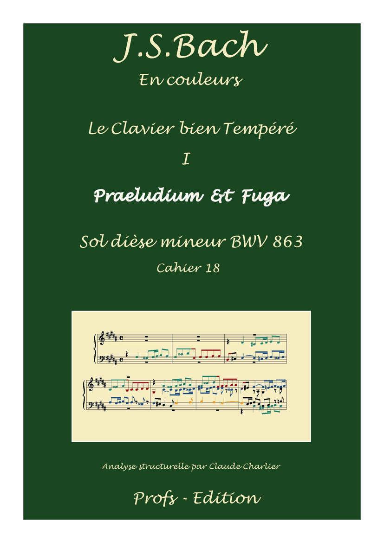 Clavier Bien Tempéré 1 BWV 863 - Analyse - CHARLIER C. - page de garde