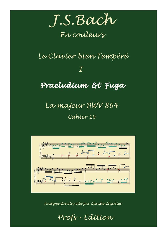 Clavier Bien Tempéré 1 BWV 864 - Analyse - CHARLIER C. - page de garde