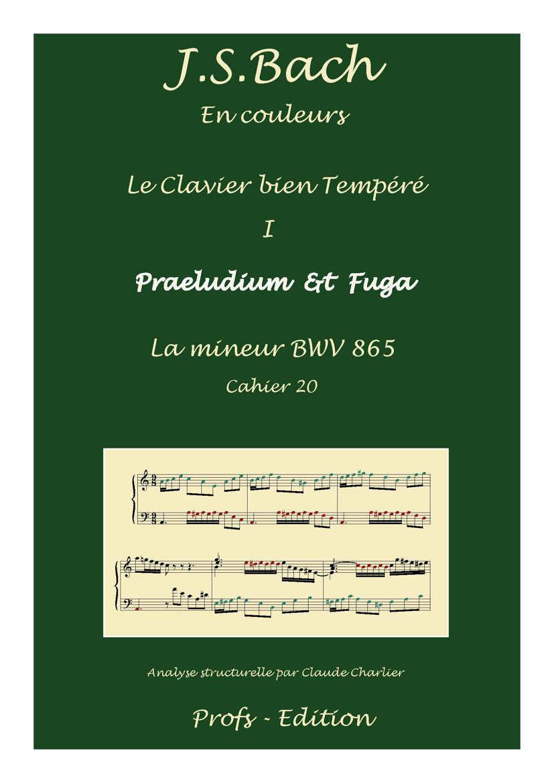 Clavier Bien Tempéré 1 BWV 865 - Analyse - CHARLIER C. - page de garde
