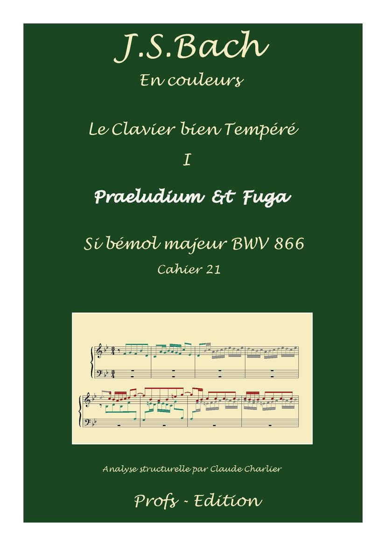 Clavier Bien Tempéré 1 BWV 866 - Analyse - CHARLIER C. - page de garde