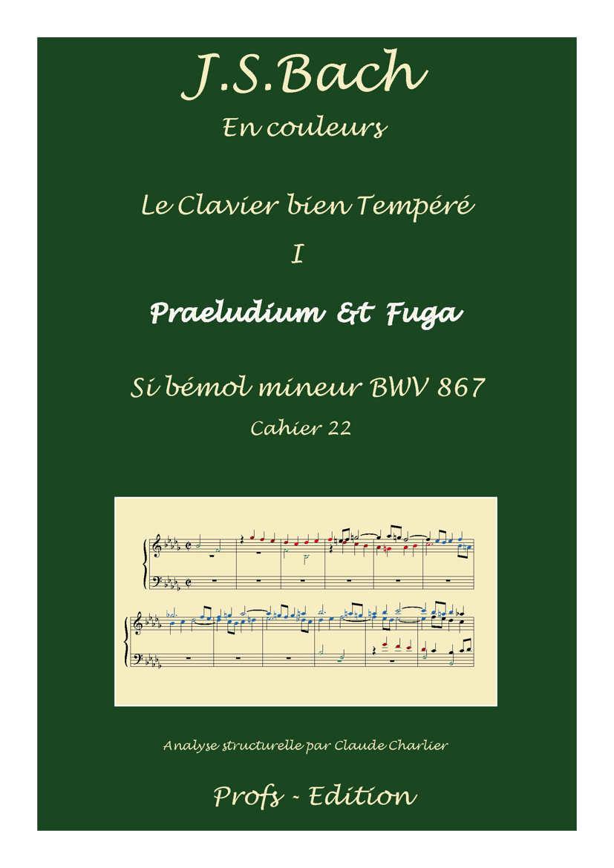 Clavier Bien Tempéré 1 BWV 867 - Analyse - CHARLIER C. - page de garde