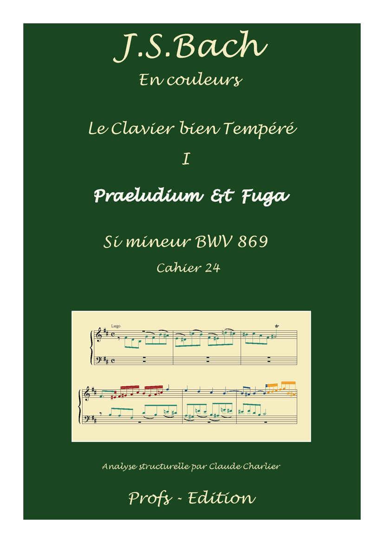 Clavier Bien Tempéré 1 BWV 869 - Analyse - CHARLIER C. - page de garde