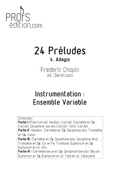 Largo - 24 Préludes - Ensemble Variable - CHOPIN F. - page de garde
