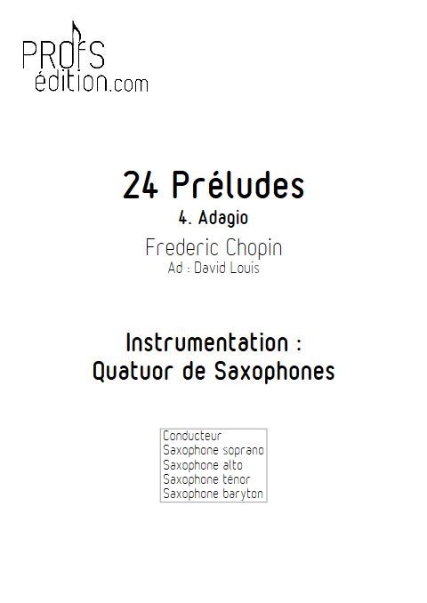 Largo - 24 Préludes - Quatuor de Saxophones - CHOPIN F. - page de garde