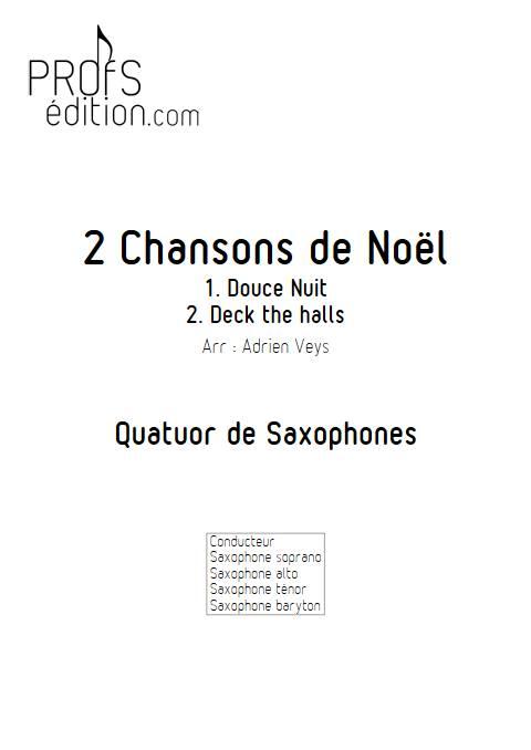 2 Chansons de Noël - Quatuor de Saxophones - TRADITIONNEL - page de garde