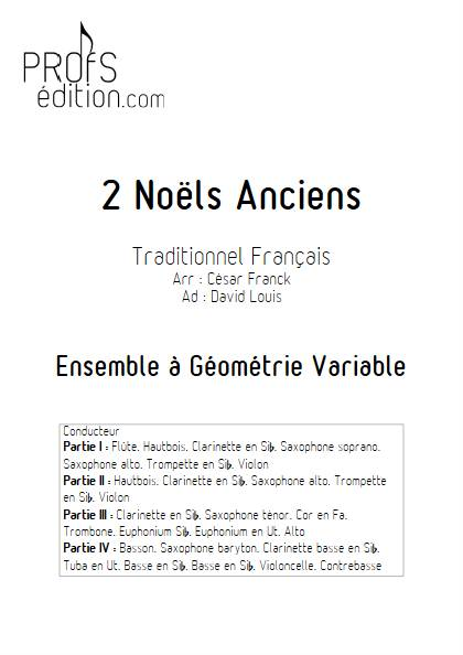 2 Noëls Anciens - Ensemble Variable - TRADITIONNEL FRANCAIS - page de garde