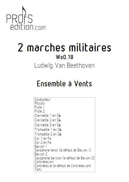 2 marches militaires - Ensemble à Vents - BEETHOVEN L. V. - page de garde