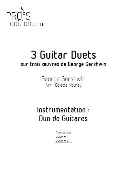 3 Guitar Duets - Duos de Guitares - GERSHWIN G. - page de garde