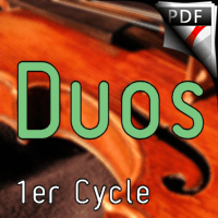 38 Chants et Comptines - Duos de Violons - TRADITIONNEL