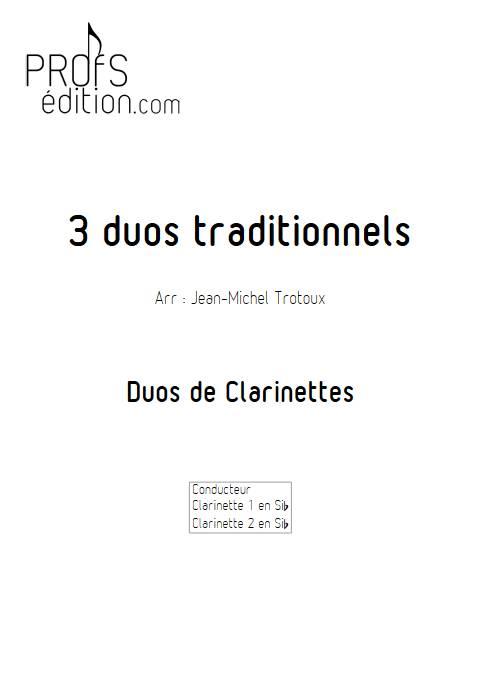 3 Duos - Duos de Clarinettes - TRADITIONNEL - page de garde