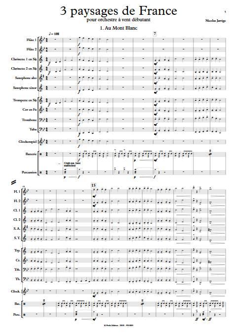 3 Paysages de France - Orchestre d'Harmonie - JARRIGE N. - app.scorescoreTitle