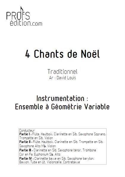 4 Chants de Noël - Ensemble à Géométrie Variable - TRADITIONNEL - page de garde