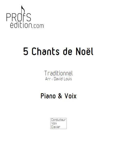 5 Chants de Noël - Piano Voix - TRADITIONNEL - page de garde
