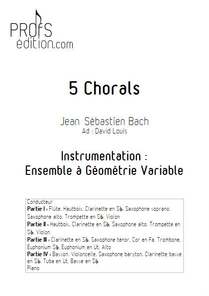 5 Chorals - Ensemble Variable - BACH J.S. - page de garde