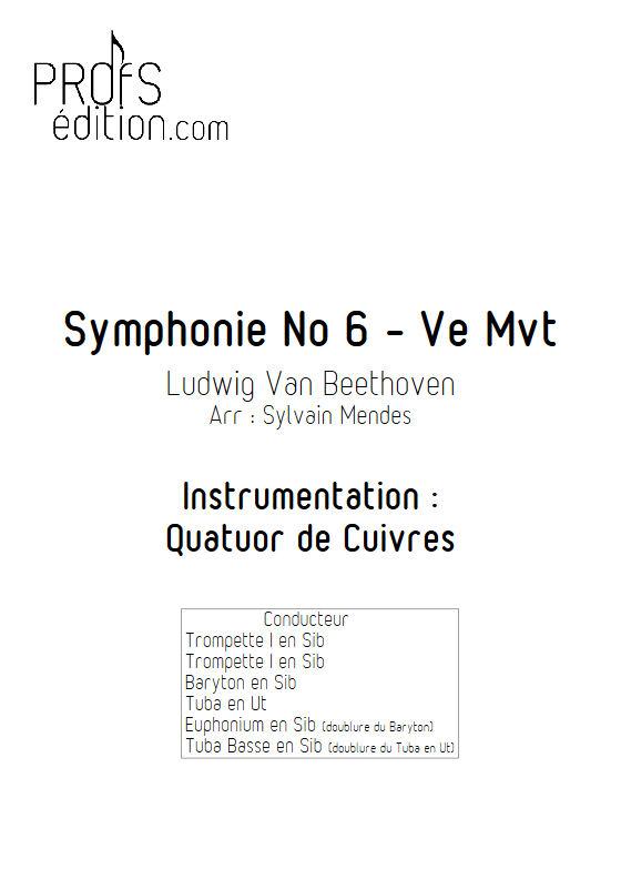 Symphonie N°6 (5e Mvt) - Quatuor de Cuivres - BEETHOVEN L. V. - page de garde