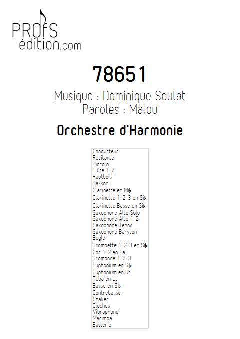 78651 - Orchestre d'Harmonie - SOULAT D. - page de garde