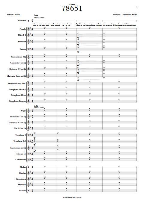78651 - Orchestre d'Harmonie - SOULAT D. - Partition