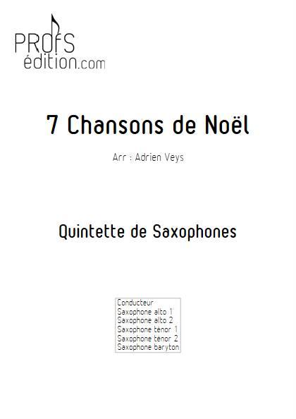 7 Chansons de Noël - Quintette de Saxophones - TRADITIONNEL - page de garde