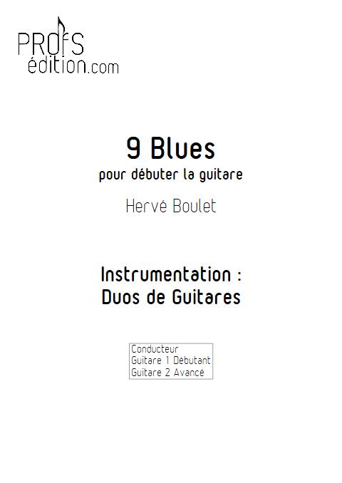 9 blues - Duos de Guitares - BOULET H. - page de garde