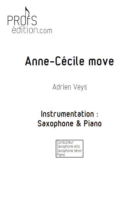 Anne-Cécile move - Duo Saxophone Piano - VEYS A. - page de garde